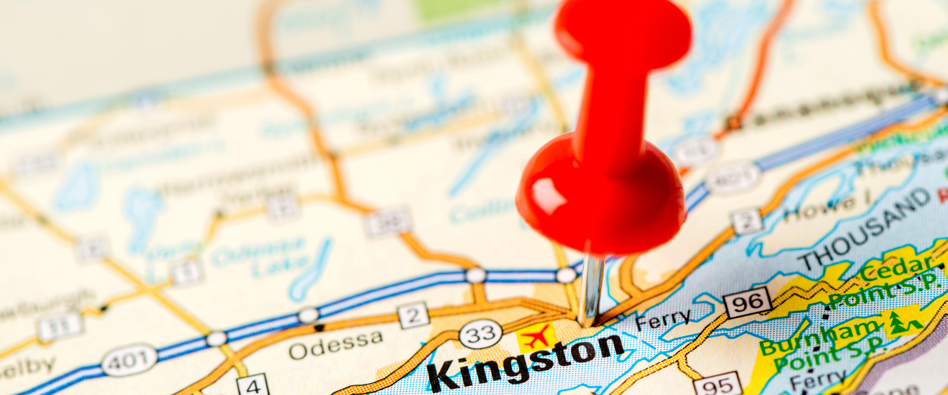 Map of Kingston Ontario Canada