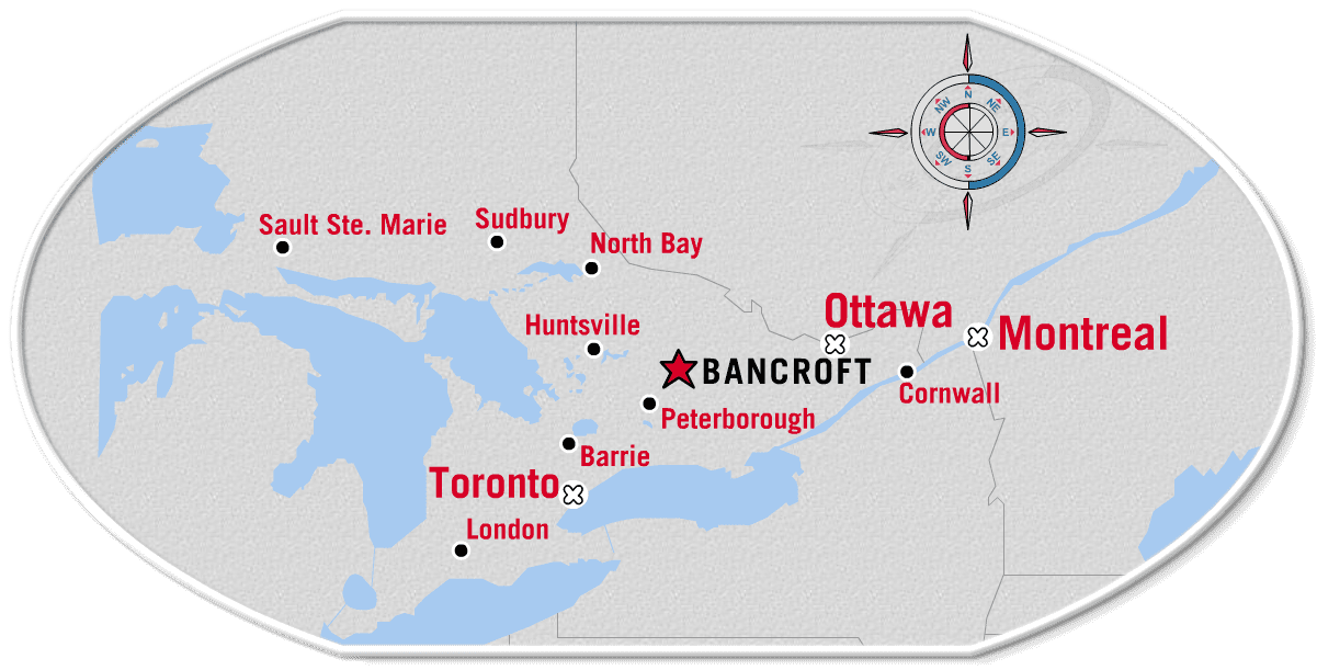 Map Of Bancroft Ontario Canada Area Maps | Bancroft Real Estate   Ted Bartlett Team   Waterfront