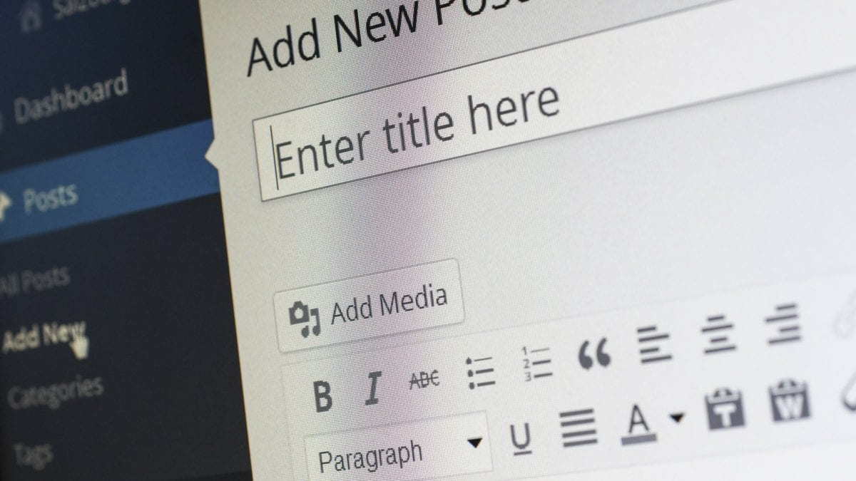 Creating a new blog post in Wordpress