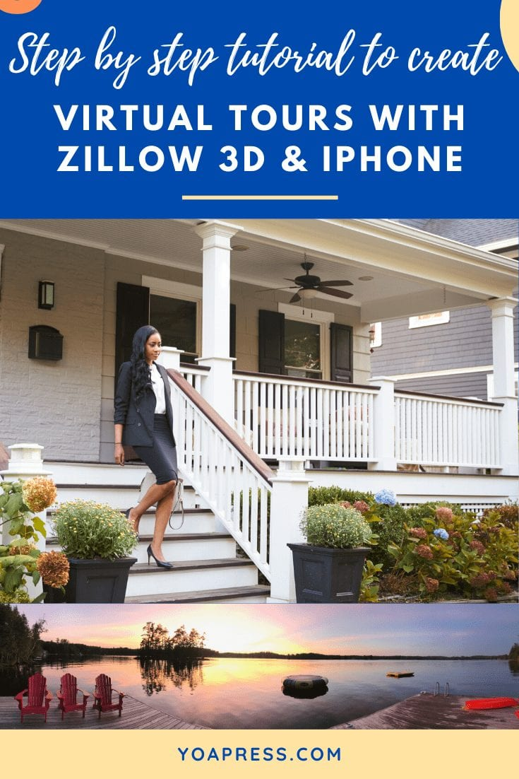 Step by step tutorial to create virtual tours with Zillow 3D and iPhone